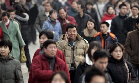 Mobile phone user in Beijing