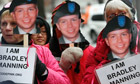 Activists in support of Bradley Manning, the alleged leaker of documents to WikiLeaks