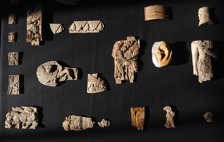 Nimrud Ivories: Pieces of carved ivory from ancient Assyria recently acquired