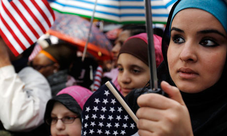 muslims little american flags