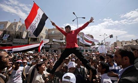 A demonstration demanding the resignation of Yemeni President Ali Abdullah Saleh at the weekend