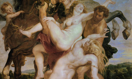 Detail from the Abduction of the daughters of Leukippos by Castor and Pollux, Peter Paul Rub