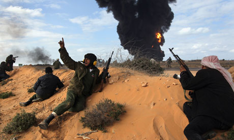 Opposition Rebels Battle Gaddafi