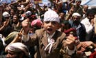 Yemeni anti-government protesters shout