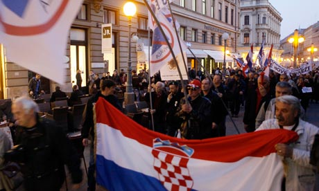 Croatia protest