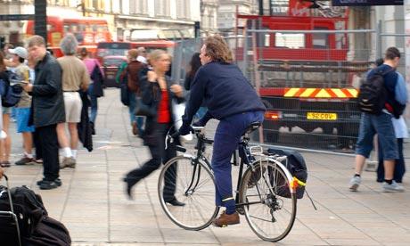 Cycling on pavement
