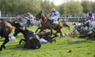 Horses fall at Bechers Brook