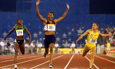 marion jones 100m race