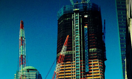 One World Trade Center, formerly Freedom Tower, under construction New York March 2011. Paul Owen