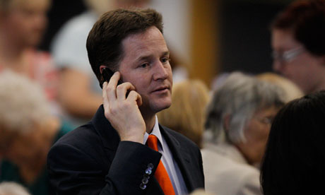 Nick Clegg in his Sheffield Hallam constituency