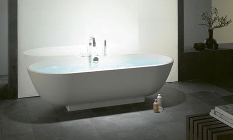 A Burg Crono 2.0 mineral-cast bathtub