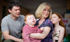 Hart family with brain damaged son
