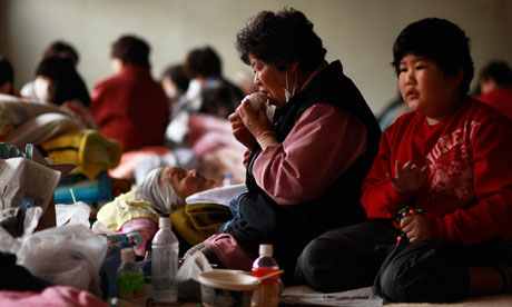 Thousands of people with homes near Fukushima Daiichi have been forced into evacuation centres outside the expanded 30km exclusion zone around the nuclear plant