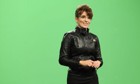 Tina Fey as Sarah Palin on Saturday Night Live, April 2010.