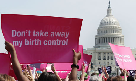 Planned Parenthood supporters at a rally on Capitol Hill in Washington DC earlier this month