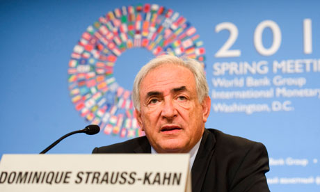 The IMF's managing director, Dominique Strauss-Kahn