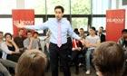 Ed Miliband arrives at De Montfort University Leicester for Q&A