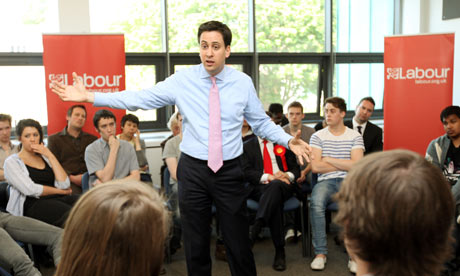 Ed Miliband arrives at De Montfort University Leicester for Q&A