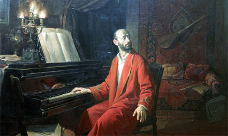 Detail of painting of Komitas Vardapet by Sarkis Muradyan