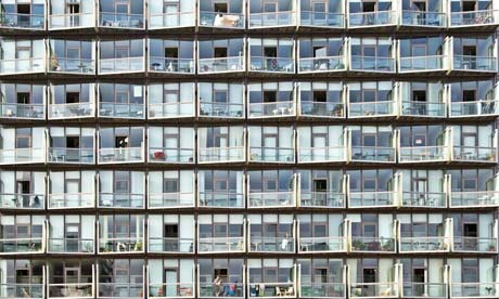 Modern apartment block, edge of Manchester city centre, UK. Image shot 2009. Exact date unknown.