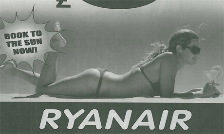 ... watchdog has banned a campaign by Ryanair featuring a bikini-clad model ...