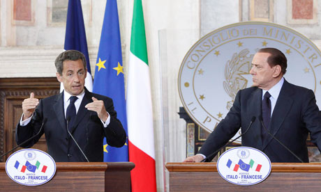 Nicolas Sarkozy and Silvio Berlusconi