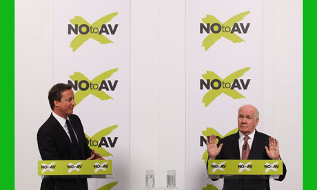 Just say No: David Cameron and John Reid join forces against AV.