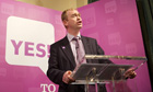 Tim Farron at a Yes to AV conference
