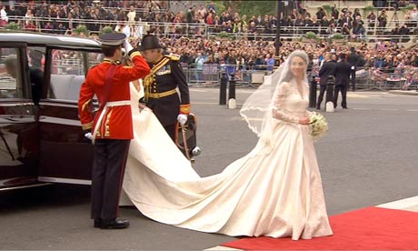 Royal Wedding: Kate Middleton arrives