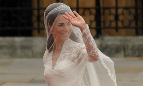 Kate Middleton arrives at Westminster Abbey.