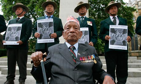 Gurkha protest for free hospital care