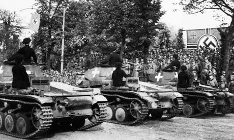 German tanks on parade in Poland