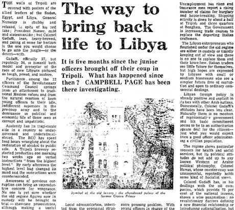 Libya cutting for archives