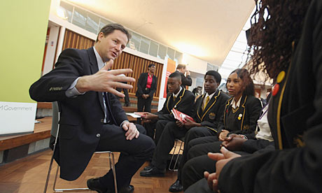 "Southwark's Globe Academy ""is really going places"" says Nick Clegg"