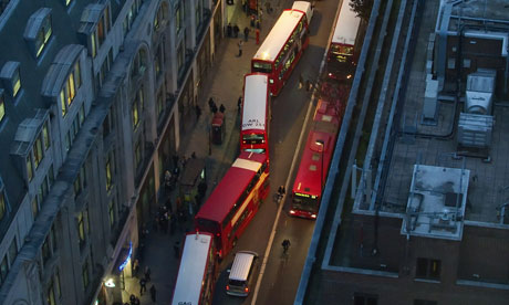 London buses queue