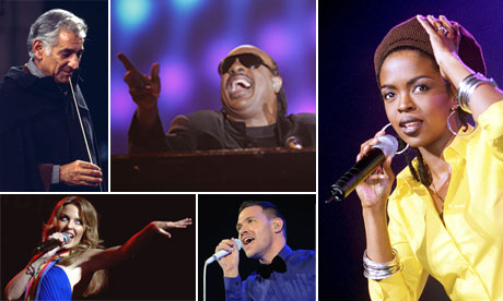 Leonard Bernstein, Stevie Wonder, Lauryn Hill, Kylie Minogue and Will Young