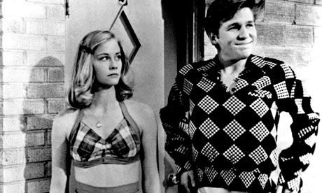 Cybill Shepherd and Jeff Bridges in The Last Picture Show