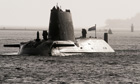 Nuclear submarine HMS Astute on which two people have been injured after a shooting at Southampton