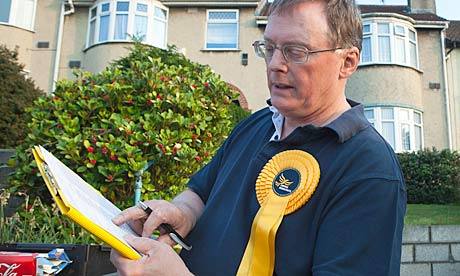 Mike Popham, prospective MP for Bristol East, canvasses in Brislington West