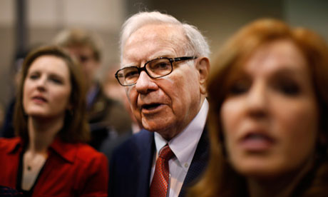 Berkshire Hathaway Chairman Warren Buffett at the company trade show in Omaha, Nebraska.