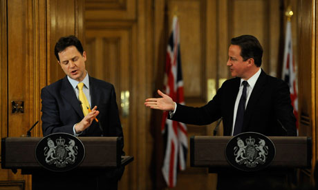 Cameron - Clegg joint press conference