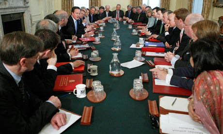 Cabinet meeting with David Cameron and Nick Clegg