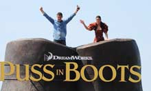 Antonio Banderas and Salma Hayek at the Puss In Boots photocall in Cannes