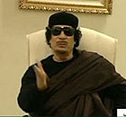 Gaddafi appears on Libyan state television