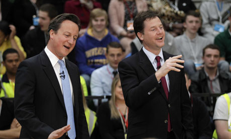 Cameron and Clegg visit the 2012 Olympic Park