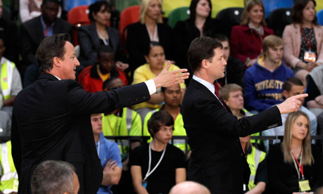 David Cameron and Nick Clegg 'body echo'