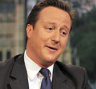 Britain's Prime Minister, David Cameron, speaks on the Andrew Marr Show, in London