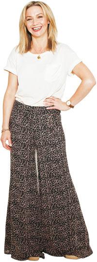 Jess Cartner-Morley in swooshy trousers