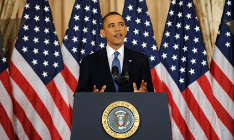 US President Barack Obama delivers an address on events in the Middle East