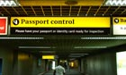 passport control sign